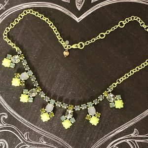 J Crew Crewcuts neon rhinestone statement necklace